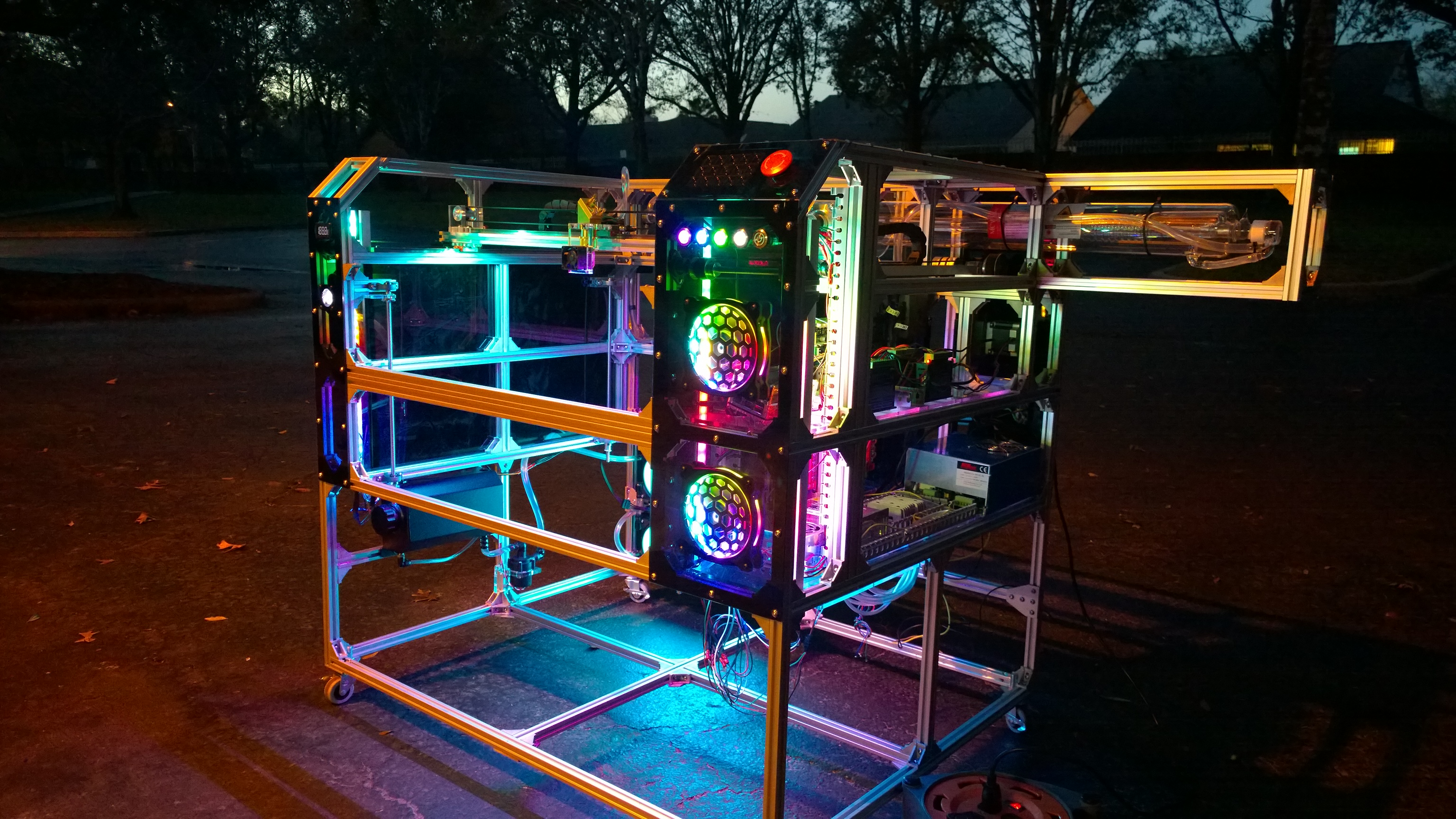 Custom Built 80W CO2 Laser Cutter - Show & Tell: Machines